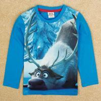 Hot Selling Nova Kids Frozen Boys' Cotton Cartoon Long-Sleeved Top Shirt Bottoming Boys Shirt Casual Free Shipping