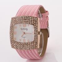 Koshi Fashion Quartz Watches Rhinestone Crystal Dress Watch Casual Luxury Clock Ladies Wristwatches free shipping