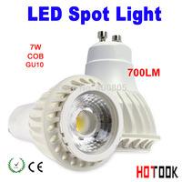 LED Spot Light COB  non-dimmable 7W GU10 led High Power gu 10 700lm High lumen  led Lamp,White gu10 led spotlight led X 10PCS