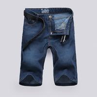 Hot jean shorts boys men 2014 fashion leisure mens jean shorts summer casual blue high quality