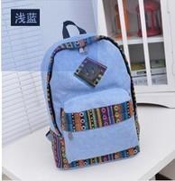 New 2014 Campus Girl Womens Teenager Travel Canvas Shoulder Bag Purse Backpacks Student School Book 4 colors Rucksack