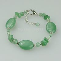 Bracelet female natural aventurine jade stone jewelry national personality bracelet