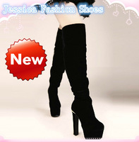 DISCOUNT ! FASHION Autumn and Winter women slip on over-the-knee nubuck leather long boots free shipping