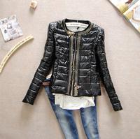 NAIULA 2014 Fashion Women's Short Slim PU Leather Cotton Coat Women Winter Coats 2014 Winter Coat Women Free Shipping AS1293