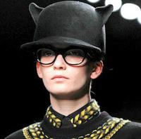 30pcs/lot fedex fast wholesale cat ear woolen equestrian cap wool hat little demon cap performance hat solid unisex caps 6colors