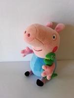 Retail 19cm george pig toys baby peppa pig plush for girls boys pepa pig george with Dinosaur doll Stuffed animals cartoon gifts