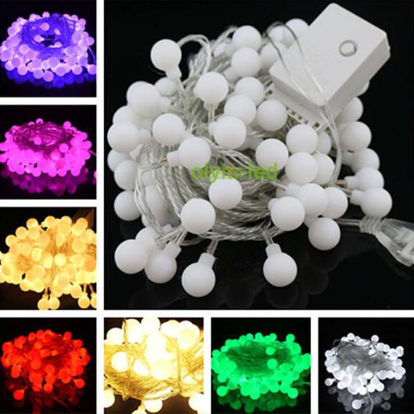 2014 Christmas lights with Wedding LED String Lights 5M 50LEDs MultiColor LED Ball String Lighting decoration Free shipping(China (Mainland))
