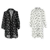 New Womens Star Print Sun Protection Loose Shawl Coats Tops 73223-73226
