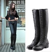 Hot Sale 2014 New low side zipper women boots with breathable openwork lace Single footwear