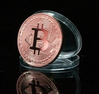 Wholease 20pcs/lot;Nice 2013 BITCOIN Collectible Physical Coin 1 Ounce 1oz Red Copper Brass Free Shipping Hot Sell!!!