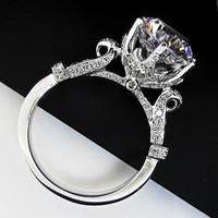 3Ct Moissanite Rings for Women 18K White Gold Promise Rings Wedding Anniversary Engagement Rings for women Long-Lasting Jewelry