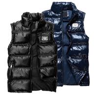 2014 Fashion duck down vest men's Brand design vest jacket outerwear sports cotton outdoor Coat Free Shipping