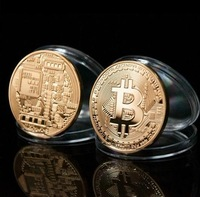 Wholease 20pcs/lot;Nice 2013 BITCOIN Collectible Physical Coin 1 Ounce 1oz  Brass Free Shipping Hot Sell!!!