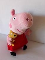 Retail 19cm peppa pig Plush Cartoon Toys baby for kids girls boys pepa pig with Teddy Bear doll Stuffed Plush animals gifts