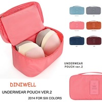 2014 upgrade new version underwear bag thicker&stronger bra storage bag waterproof travel bag 6 colors for optional DW001
