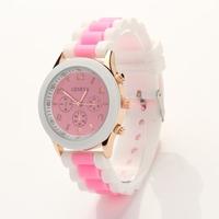 Koshi Quality Silicone Quartz Women Dress Watches Wristwatch,Classic Gel Crystal Fashion Sport Watch XR376