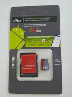 100% real  32gb/16gb/8gb Android Robot high speed Class 10 Micro SD TF Memory Card with Adapter Retail Package