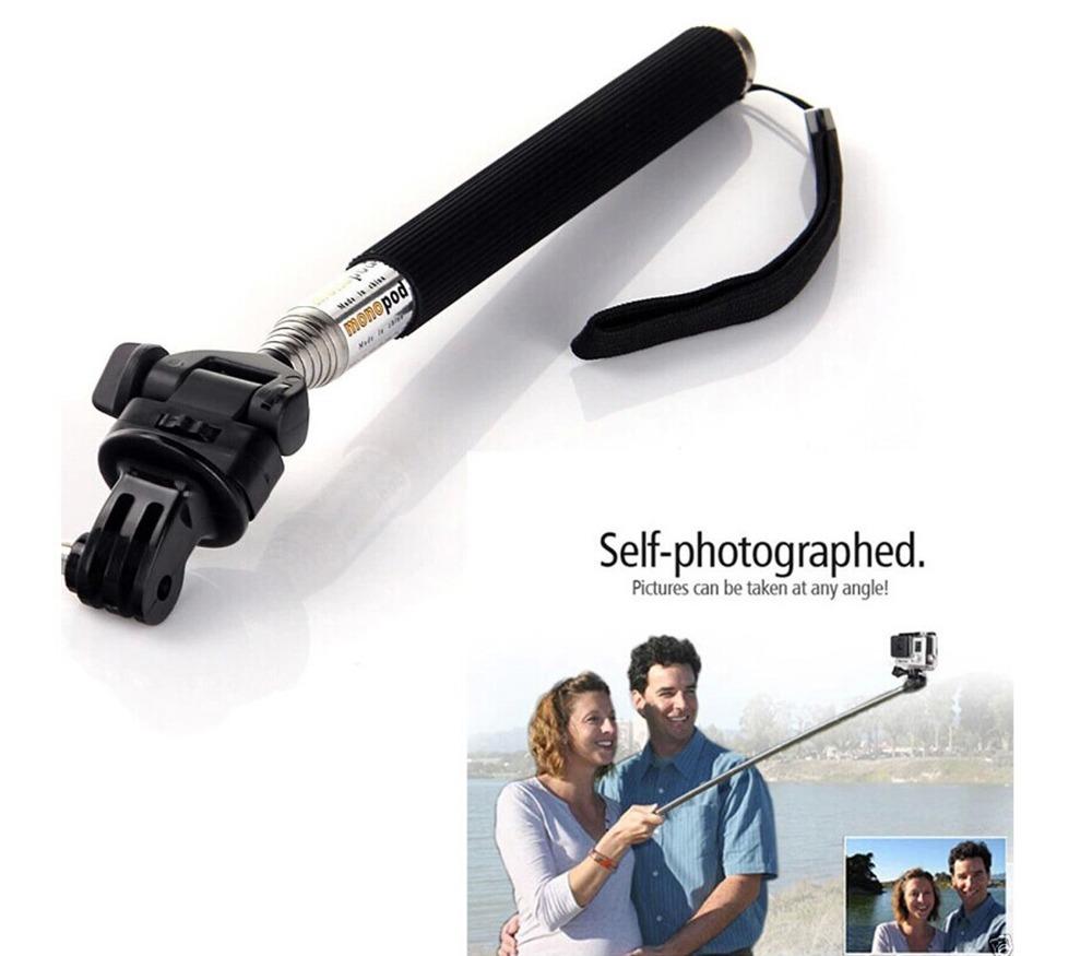 buy extendable handheld selfie stick telescopic monopod tripod adapter mount. Black Bedroom Furniture Sets. Home Design Ideas