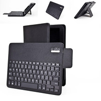 "F52s Removable Wireless Bluetooth Keyboard+Magnetic Leather Cover Stand Case for Samsung P5200/5210 Tab3 10.1"" Tablet"