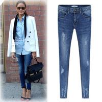 Spring Autumn&Winter, All-Match Thicken Ladies pencil Jeans
