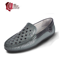 Male shoes the trend of shoes fashion commercial leather genuine leather single shoes low Moccasins male