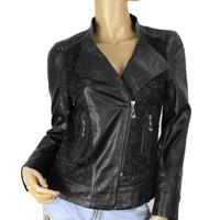 2014 New Fashion Womens Slim Leather Jacket Coat M-3XL Short Paragraph Diagonal Zipper PU outerwear coats Free Shipping 8987
