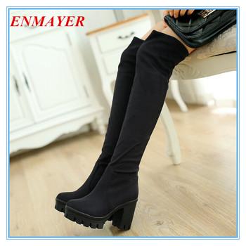 Enmayer новый 2015 мода круглым носком за - более-сапоги для женская обувь сексуальное ...