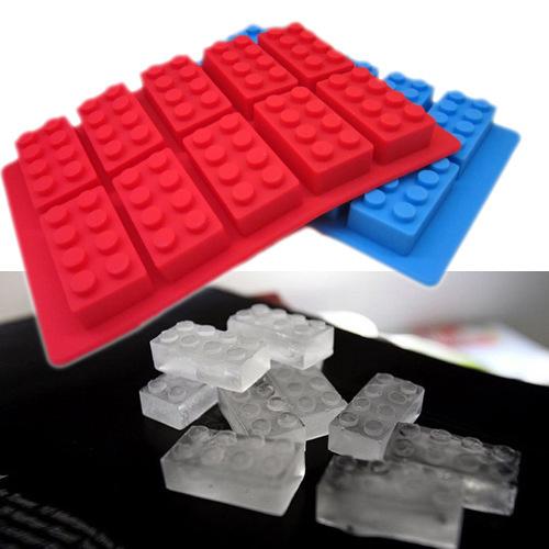 10pcs/lot Chocolate mould Ice cube Trays mold legoes ice block brick ...
