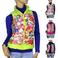 Patterns Fashionable women's cotton vest Autumn winter collar warm down vest, women waistcoat large size XL-XXXXL Free Shipping