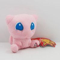 free shipping 1pcs 12cm Pokemon toy mewtwo pink square head dream Pikachu soft plush doll stuffed animal