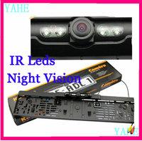 Free Shipping ,Newst Product Car Reversing Rear View Camera License Plate Night Vision Backup Parking Sensor