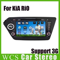 For KIA RIO,2din 800MHz CPU Car DVD Player,W/ GPS+Radio+SD/USB,Support  Iphone 5 5s,DVR,Steering Wheel Car Audio Styling