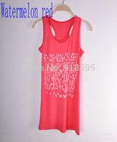 summer dress 2014 tank top women tops fashion alphabet brand tank top clothing women summer dress free shipping promotion