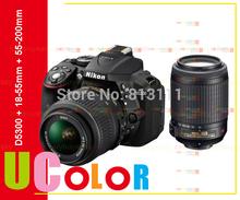 Original Nikon D5300 Digital SLR Camera + Nikkor 18-55mm VR & AF-S 55-200mm VR Lens(Hong Kong)