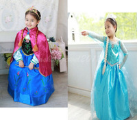 Fashion+affordable!Girl's Frozen Princess Anna Elsa Cosplay Costume Kid's Dress Up Dresses