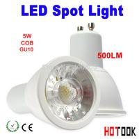 Nuevo barato COB spotlight  5W GU10 led  Factory price LED cob bombilla lampara warm cold White gu10 quality led bulb X 10PCS