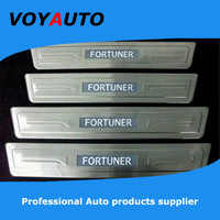 Top Seller ! High Quality  Stainless Steel FORTUNER LED Scuff Plate,Led  Door Sill Plate,  Led Door Sill for FORTUNER