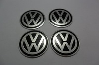 VW stickers 55mm  Wheel Center Sticker VW Badges VW wheel logo stickers   Aluminum