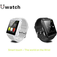 free shipping Hot sales Bluetooth V3.0+EDR U8 Bluetooth Watch For IOS phone S4 5 Android Cell Phone Support 13  Language