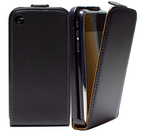 For Apple Iphone 3 / 3G / 3GS genuine Flip Leather Case Magnetic Closure Pouch Wallet Cover(China (Mainland))
