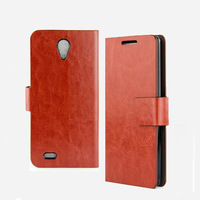 New High Quality Crazy Horse Design Wallet  Leather Cover Case For Lenovo S820 With Card holder  + Free ship