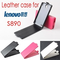 Hot Sale! New Luxury PU Leather Case for Lenovo S890 Open Up and Down + Free ship