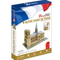 Promotion Gift Cubic Fun 3D Puzzle Toy Notre Dame De Paris Model DIY Puzzle Toy MC054h