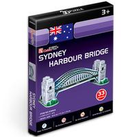 Promotion Gift Cubic Fun 3D Puzzle Sydney Harbour Bridge (Australia) Model DIY Puzzle Toys S3002 For Kid's Gift