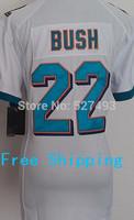 Mia #22 Reggie Bush Women Jersey,Cheap American Football Jersey,Embroidery logos,Bush Jersey,Rugby Jerseys