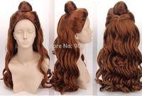 brazilian virgin queen  Princess Beauty and the Beast - Bell Princess Cosplay Wig Natural Kanekalon Fiber Hair no lace All wigs
