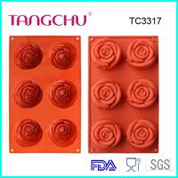 Rose shape silicone cake decorating tools