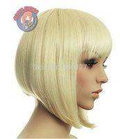 Cosplay Wig Short Blonde Wig High Temperature Wire Short Hair Natural Kanekalon Fiber Hair no lace All wigs