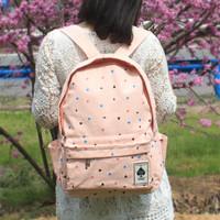 Canvas backpack female high school students school bag fresh casual backpack