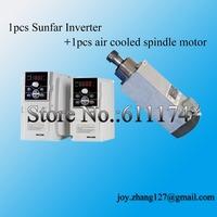 1pcs 2.2Kw AC220V ER25 Air cooled cnc spindle motor and 1pcs 2.2kw sunfar inverter